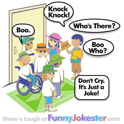 Halloween Knock Knock Joke Boo