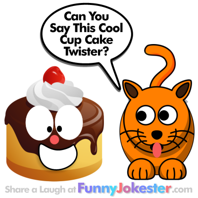 Tongue Twister Cup Cake