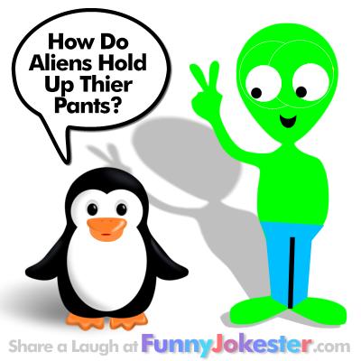 Funny Alien Joke with Cartoon