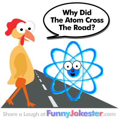 Funny Atom Joke with Cartoon
