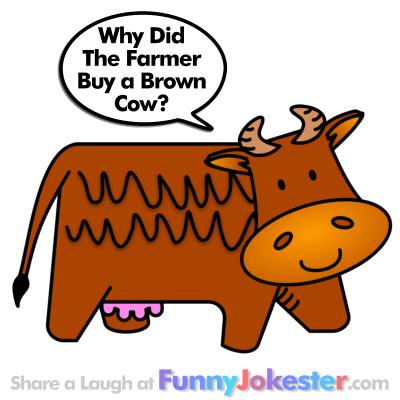 Cow Joke with Cartoon