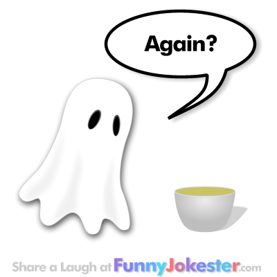 NEW Funny Ghost Joke with a Funny Cartoon
