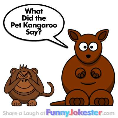 Funny Kangaroo Joke for Kids Cartoon