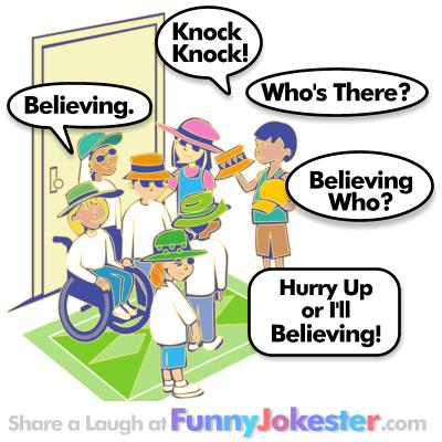 Believing Knock Knock Joke