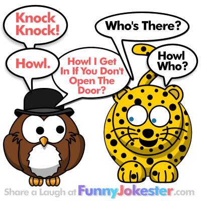 Howl the Owl Knock Knock Joke