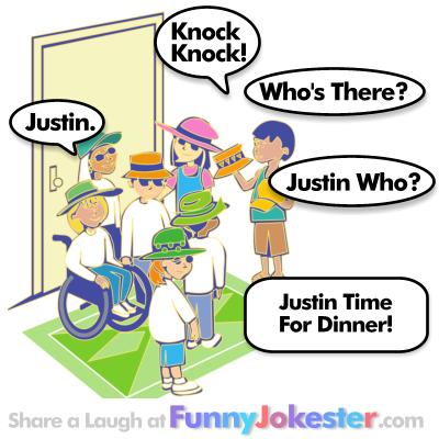 Justin Knock Knock Joke