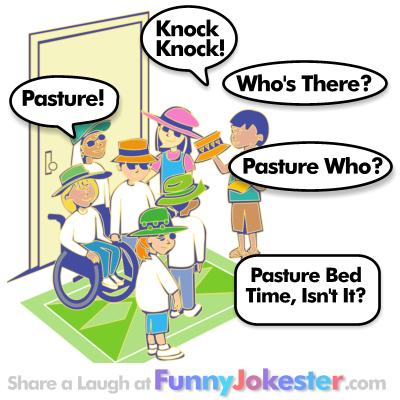 Pasture Knock Knock Joke