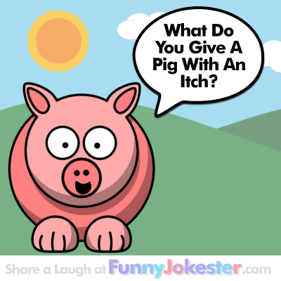 Pig Joke with Cartoon