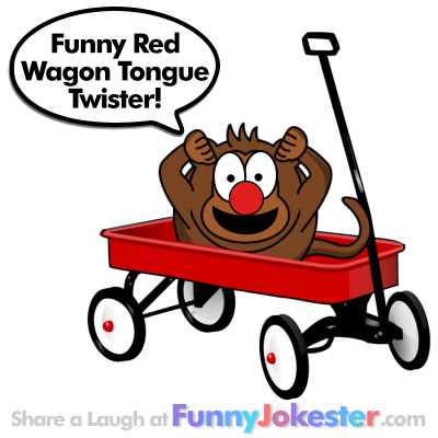 Tongue Twister Red Wagon